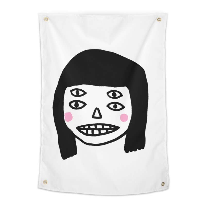 Creepy Girls Home Tapestry by Garbage Party's Trash Talk & Apparel Shop