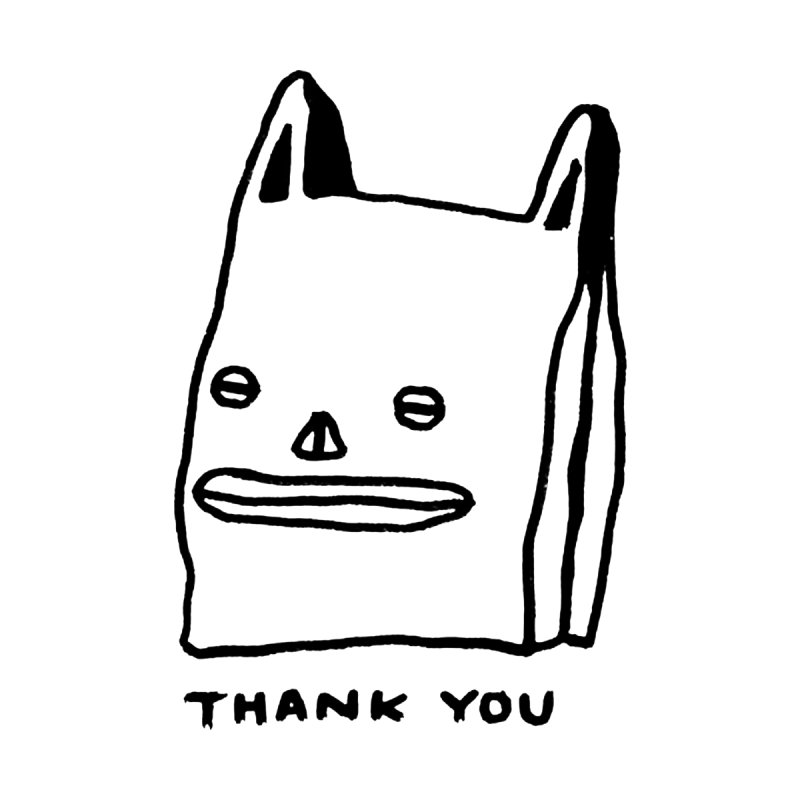 Thank You For Shopping Home Shower Curtain by Garbage Party's Trash Talk & Apparel Shop