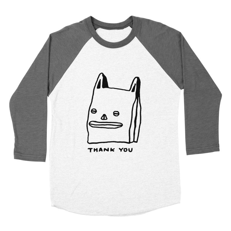 Thank You For Shopping Women's Baseball Triblend Longsleeve T-Shirt by Garbage Party's Trash Talk & Apparel Shop