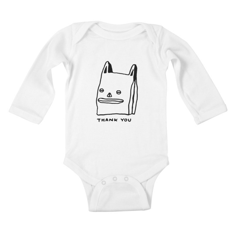 Thank You For Shopping Kids Baby Longsleeve Bodysuit by Garbage Party's Trash Talk & Apparel Shop
