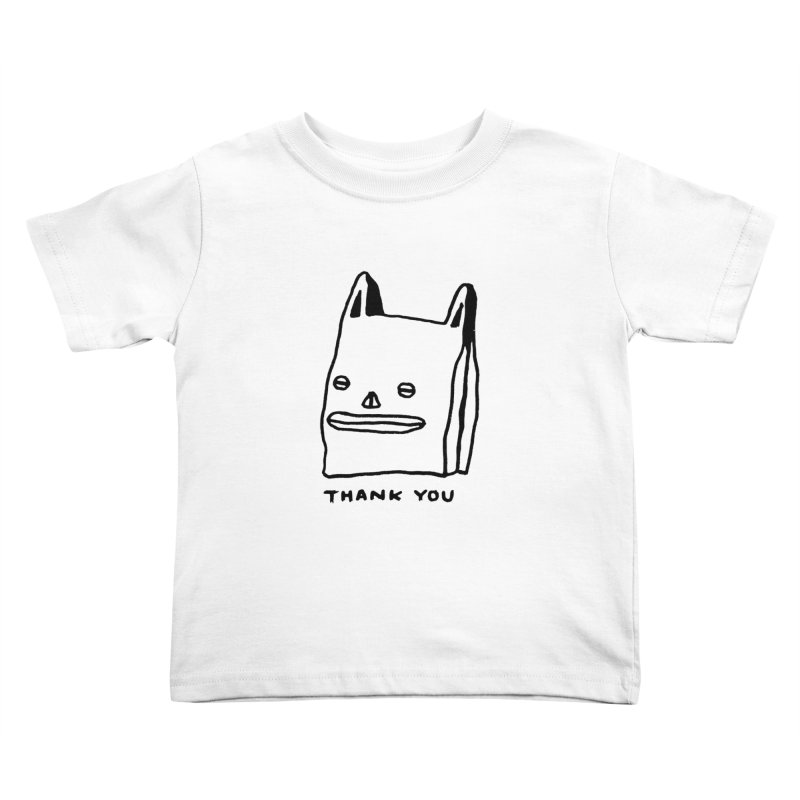 Thank You For Shopping Kids Toddler T-Shirt by Garbage Party's Trash Talk & Apparel Shop