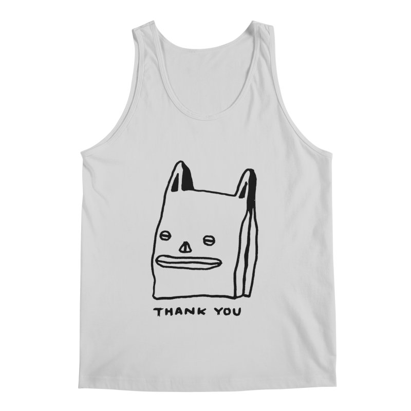 Thank You For Shopping Men's Regular Tank by Garbage Party's Trash Talk & Apparel Shop