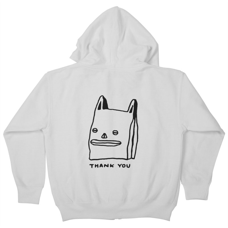 Thank You For Shopping Kids Zip-Up Hoody by Garbage Party's Trash Talk & Apparel Shop