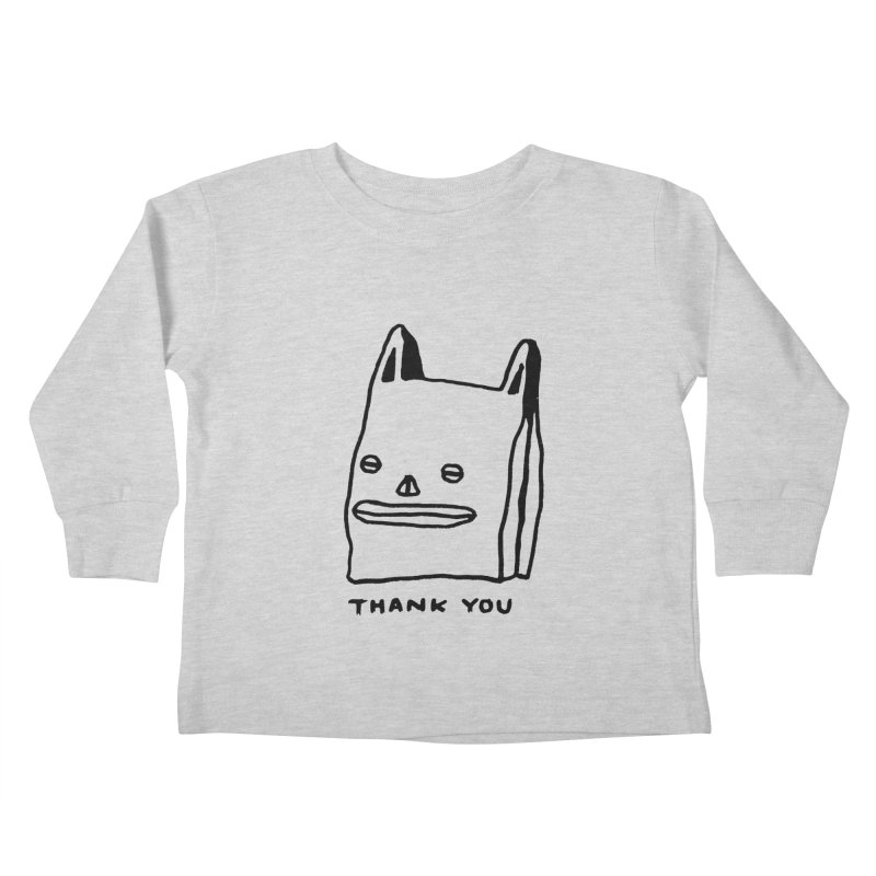 Thank You For Shopping Kids Toddler Longsleeve T-Shirt by Garbage Party's Trash Talk & Apparel Shop