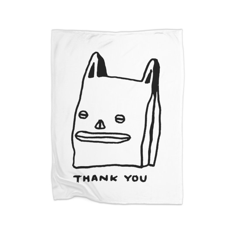 Thank You For Shopping Home Fleece Blanket Blanket by Garbage Party's Trash Talk & Apparel Shop