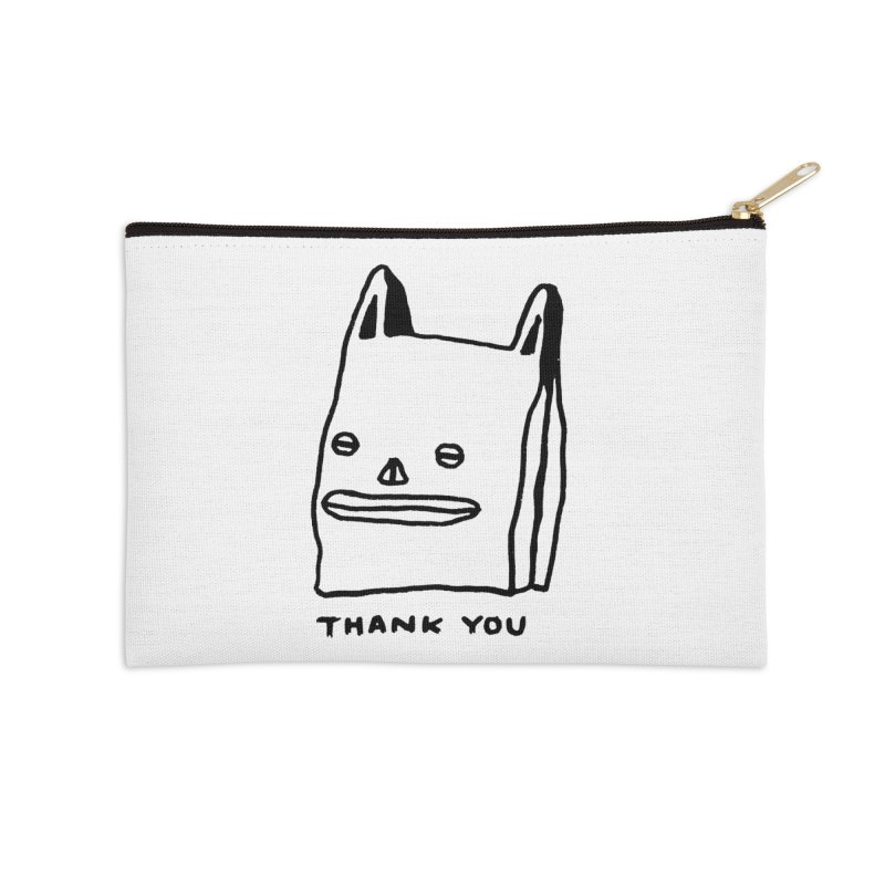 Thank You For Shopping Accessories Zip Pouch by Garbage Party's Trash Talk & Apparel Shop