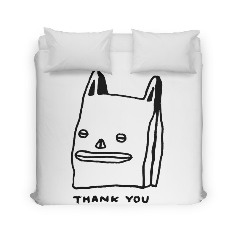 Thank You For Shopping Home Duvet by Garbage Party's Trash Talk & Apparel Shop