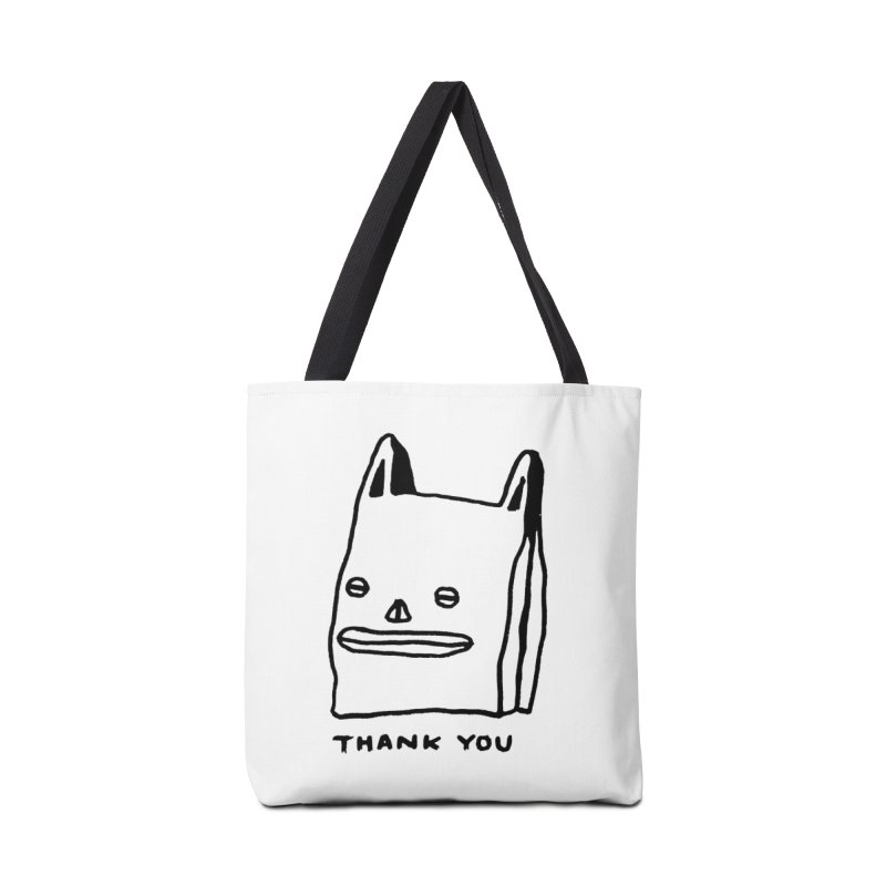 Thank You For Shopping Accessories Tote Bag Bag by Garbage Party's Trash Talk & Apparel Shop