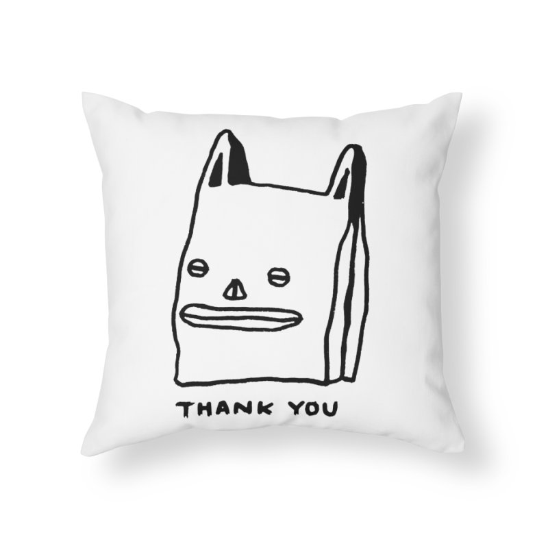 Thank You For Shopping Home Throw Pillow by Garbage Party's Trash Talk & Apparel Shop