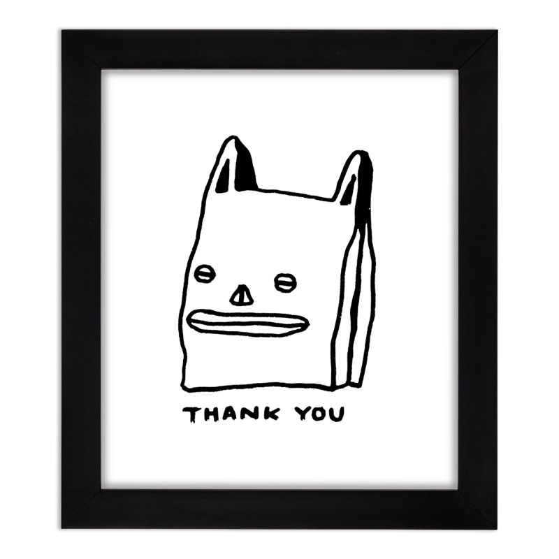 Thank You For Shopping Home Framed Fine Art Print by Garbage Party's Trash Talk & Apparel Shop