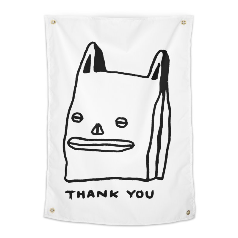 Thank You For Shopping Home Tapestry by Garbage Party's Trash Talk & Apparel Shop