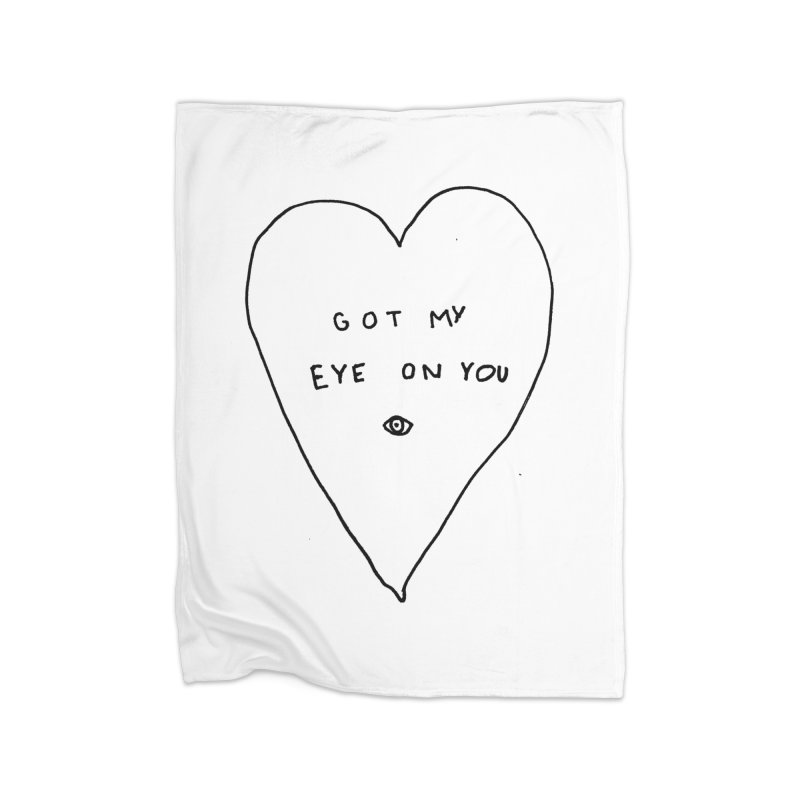 Eye on You Home Fleece Blanket Blanket by Garbage Party's Trash Talk & Apparel Shop