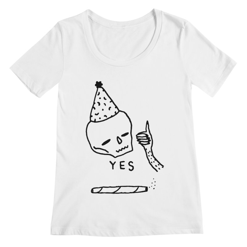 YES Women's Regular Scoop Neck by Garbage Party's Trash Talk & Apparel Shop