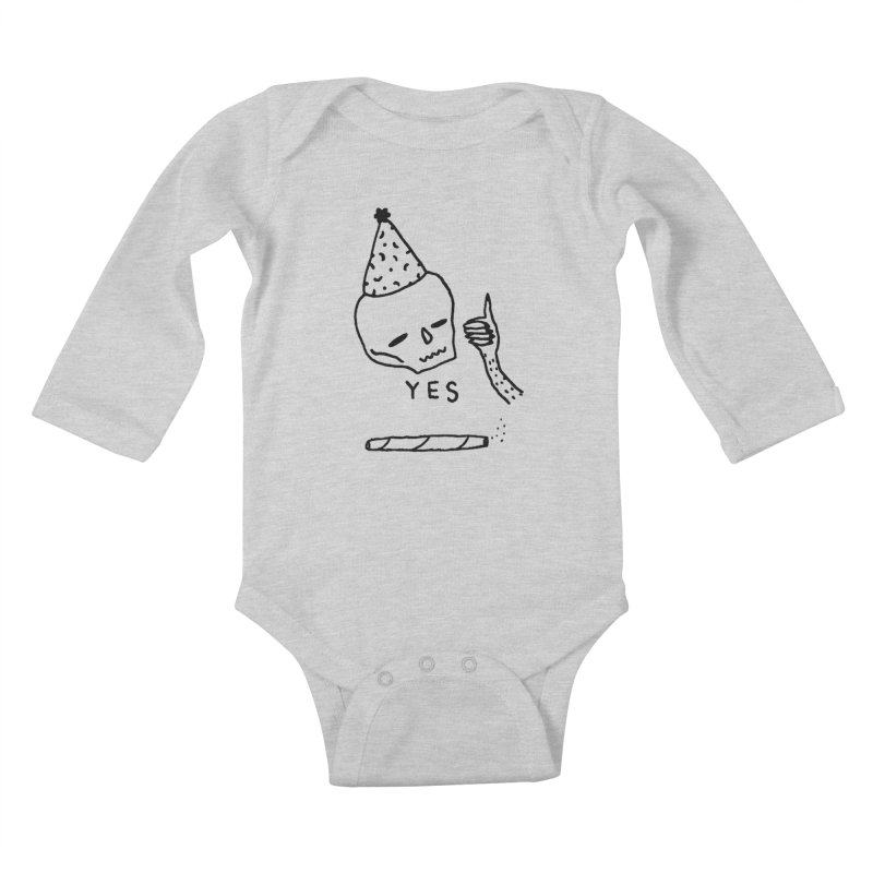YES Kids Baby Longsleeve Bodysuit by Garbage Party's Trash Talk & Apparel Shop