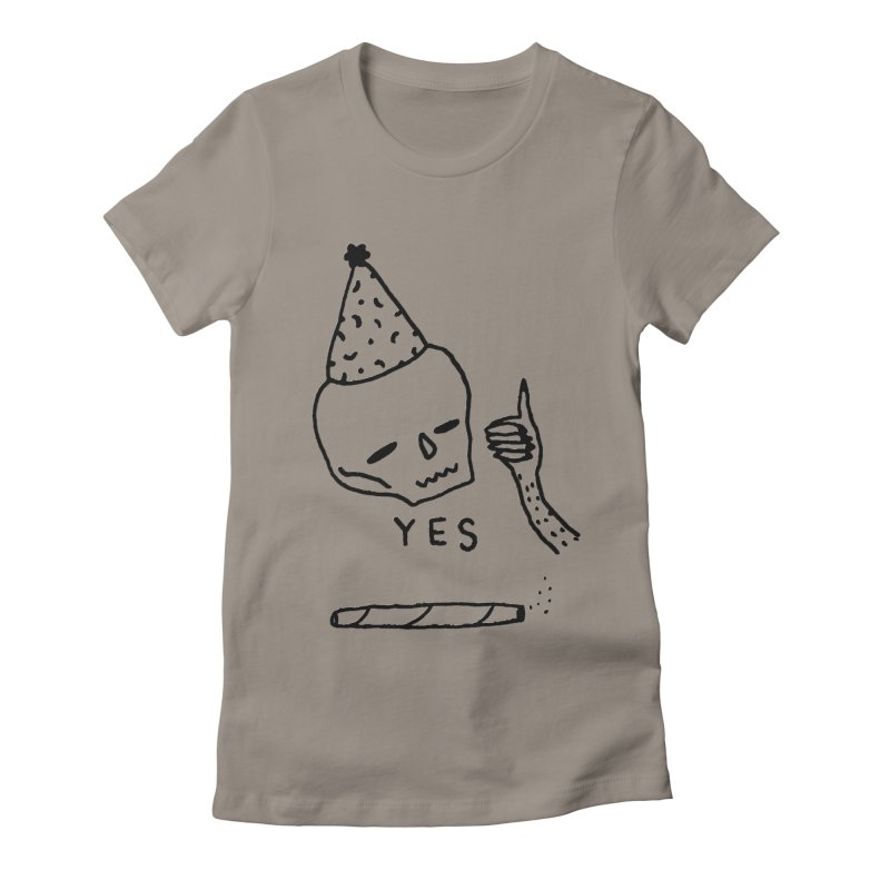 YES Women's Fitted T-Shirt by Garbage Party's Trash Talk & Apparel Shop