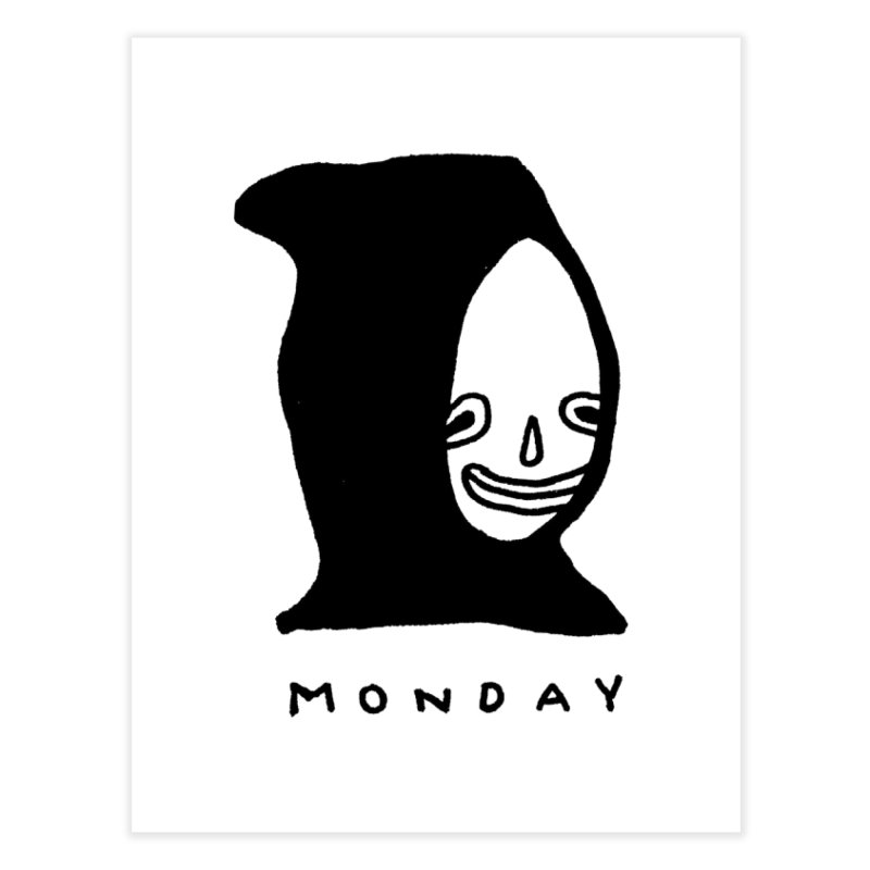 Monday Home Fine Art Print by Garbage Party's Trash Talk & Apparel Shop