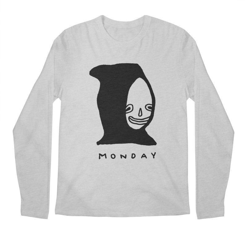Monday Men's Regular Longsleeve T-Shirt by Garbage Party's Trash Talk & Apparel Shop