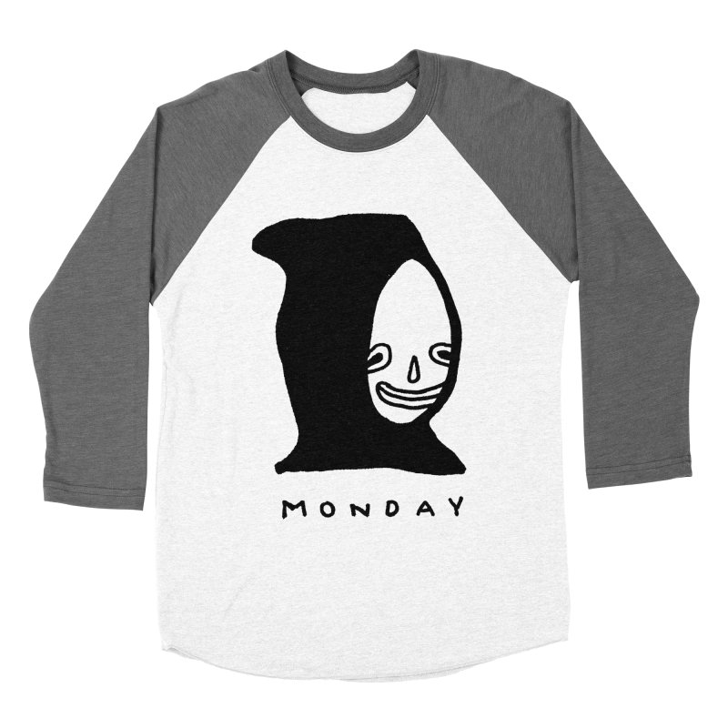 Monday Women's Baseball Triblend T-Shirt by Garbage Party's Trash Talk & Apparel Shop