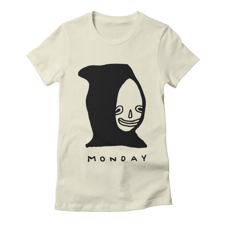 Monday Women's Fitted T-Shirt by Garbage Party's Trash Talk & Apparel Shop