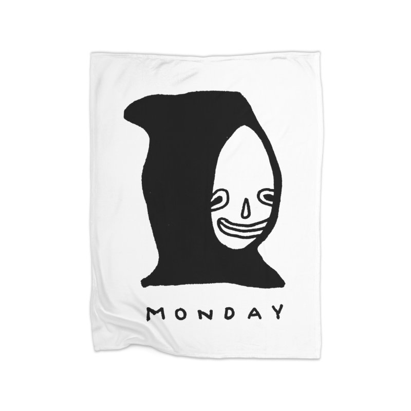 Monday Home Fleece Blanket Blanket by Garbage Party's Trash Talk & Apparel Shop