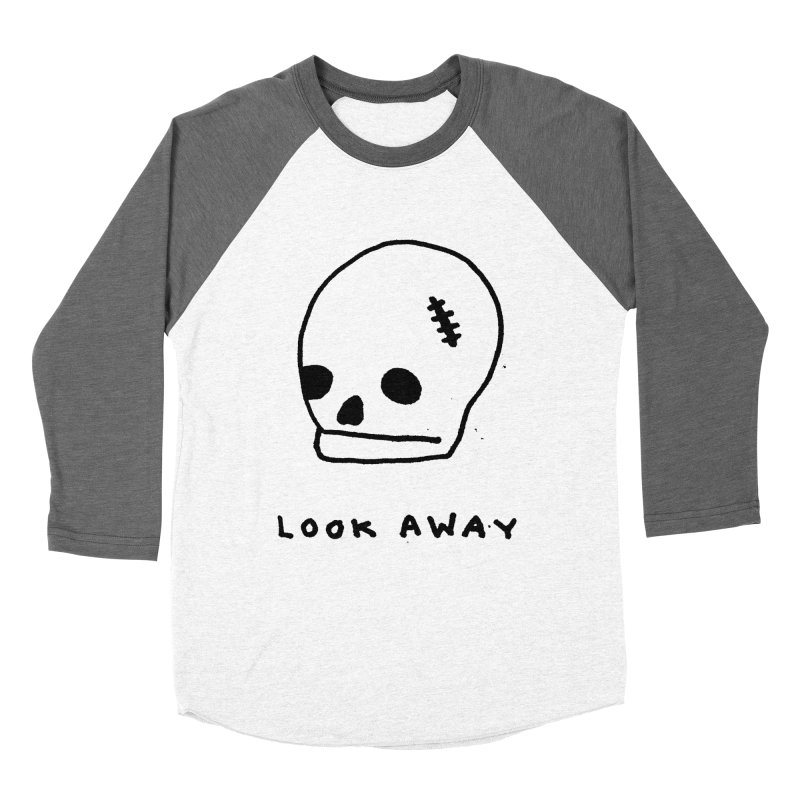 Look Away Women's Baseball Triblend T-Shirt by Garbage Party's Trash Talk & Apparel Shop