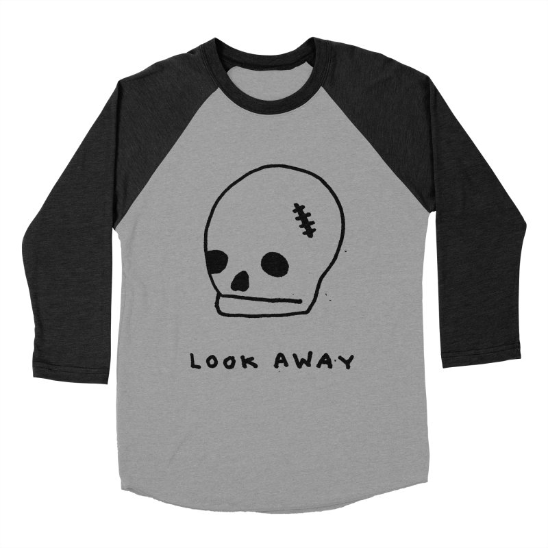 Look Away Men's Baseball Triblend T-Shirt by Garbage Party's Trash Talk & Apparel Shop