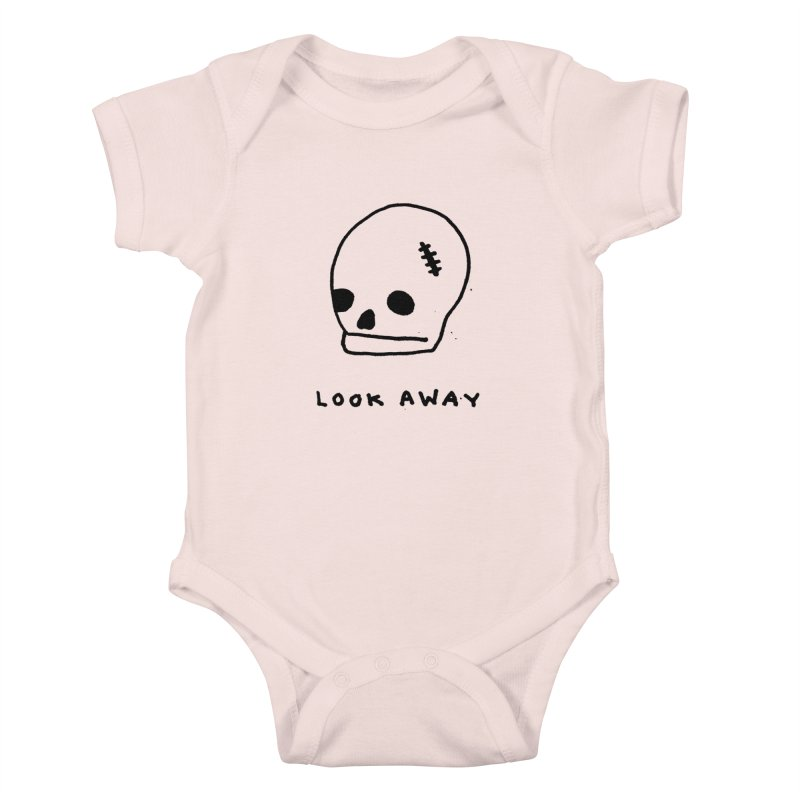 Look Away Kids Baby Bodysuit by Garbage Party's Trash Talk & Apparel Shop