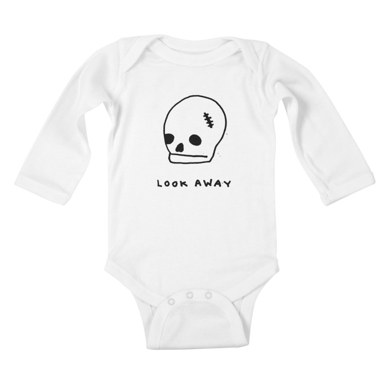 Look Away Kids Baby Longsleeve Bodysuit by Garbage Party's Trash Talk & Apparel Shop
