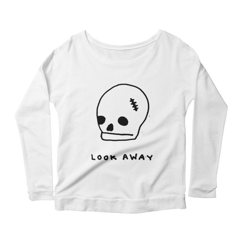 Look Away Women's Longsleeve Scoopneck  by Garbage Party's Trash Talk & Apparel Shop