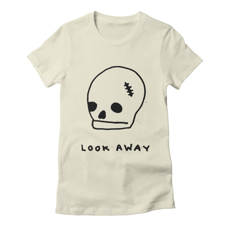 Look Away Women's Fitted T-Shirt by Garbage Party's Trash Talk & Apparel Shop