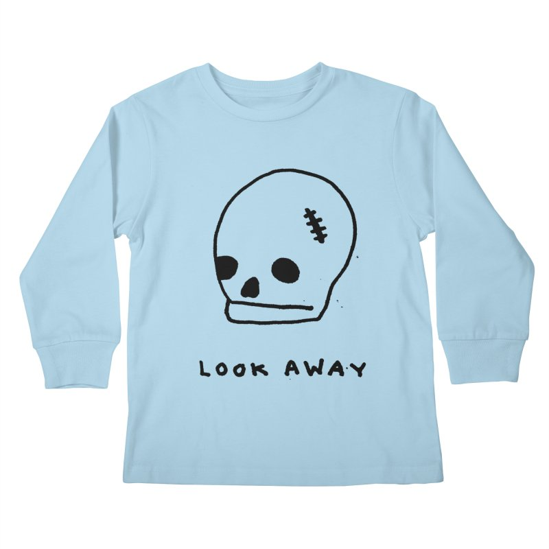 Look Away Kids Longsleeve T-Shirt by Garbage Party's Trash Talk & Apparel Shop