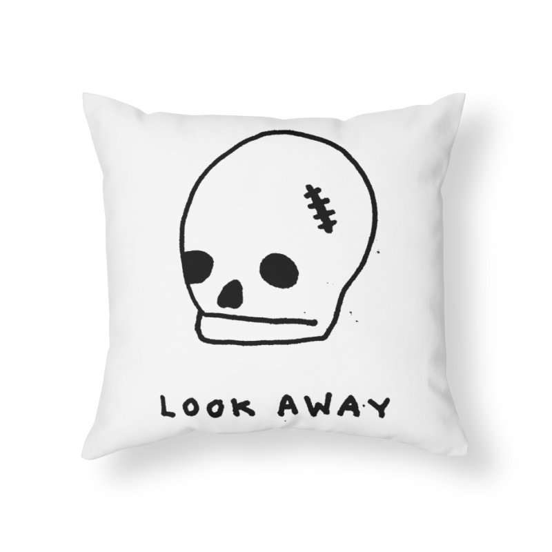 Look Away Home Throw Pillow by Garbage Party's Trash Talk & Apparel Shop