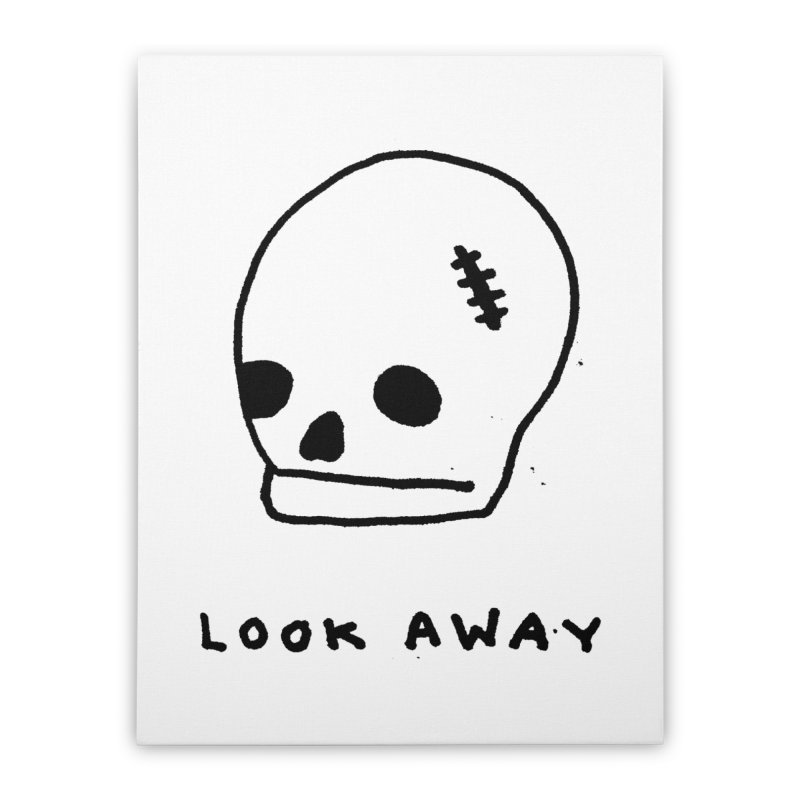 Look Away Home Stretched Canvas by Garbage Party's Trash Talk & Apparel Shop