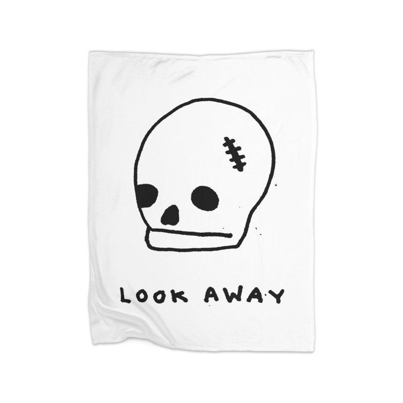 Look Away Home Fleece Blanket Blanket by Garbage Party's Trash Talk & Apparel Shop