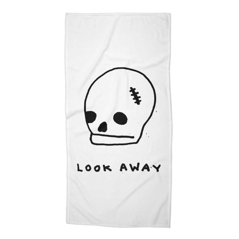 Look Away Accessories Beach Towel by Garbage Party's Trash Talk & Apparel Shop