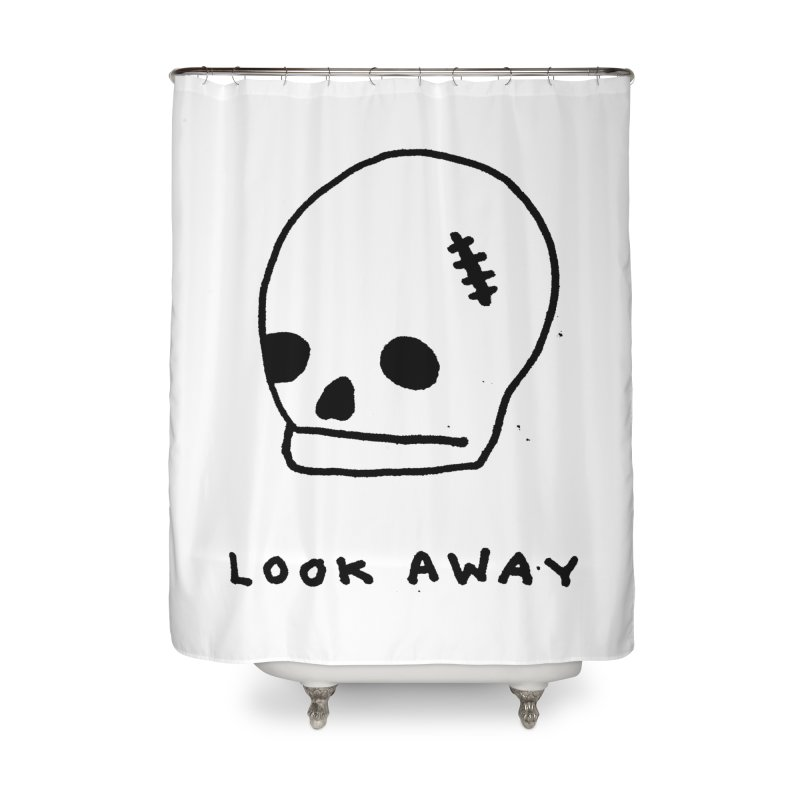Look Away Home Shower Curtain by Garbage Party's Trash Talk & Apparel Shop