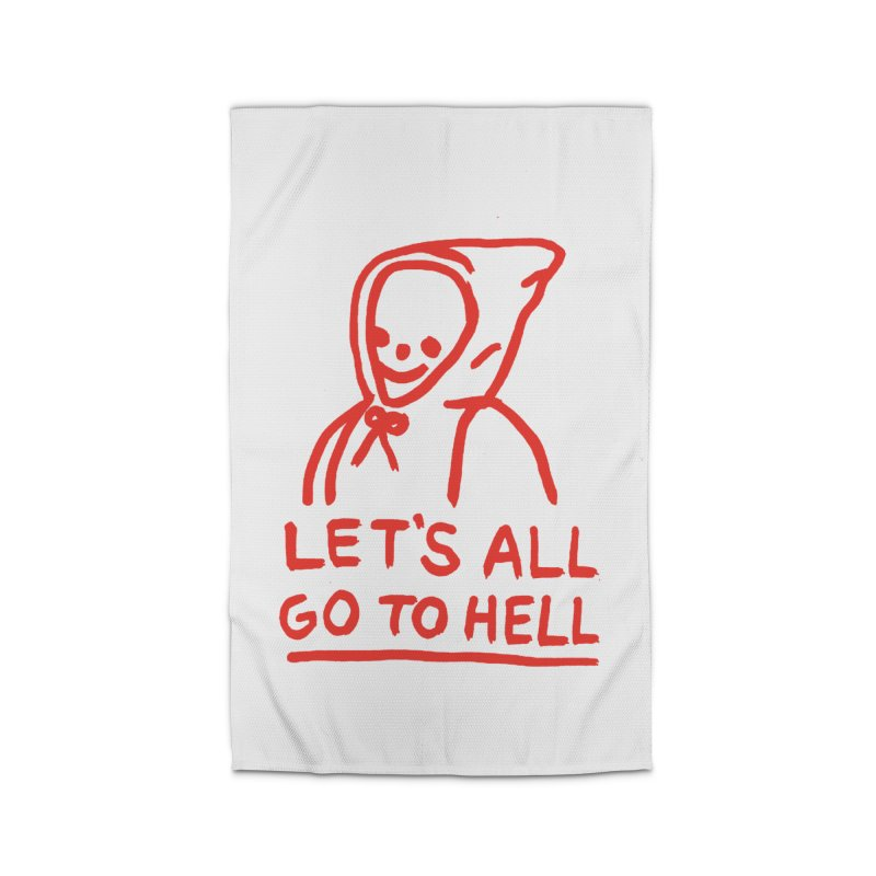 Let's All Go to Hell Home Rug by Garbage Party's Trash Talk & Apparel Shop