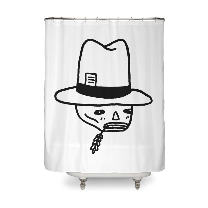 Get Off My Lawn Home Shower Curtain by Garbage Party's Trash Talk & Apparel Shop