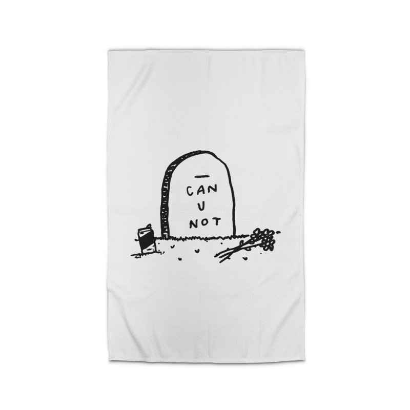 Can U Not? Home Rug by Garbage Party's Trash Talk & Apparel Shop