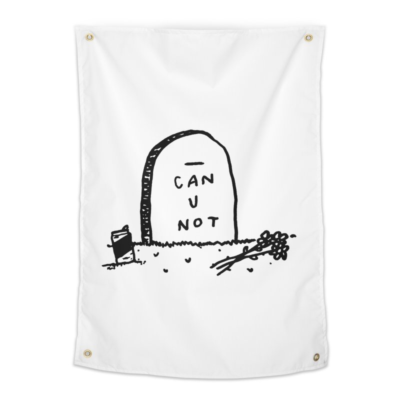 Can U Not? Home Tapestry by Garbage Party's Trash Talk & Apparel Shop