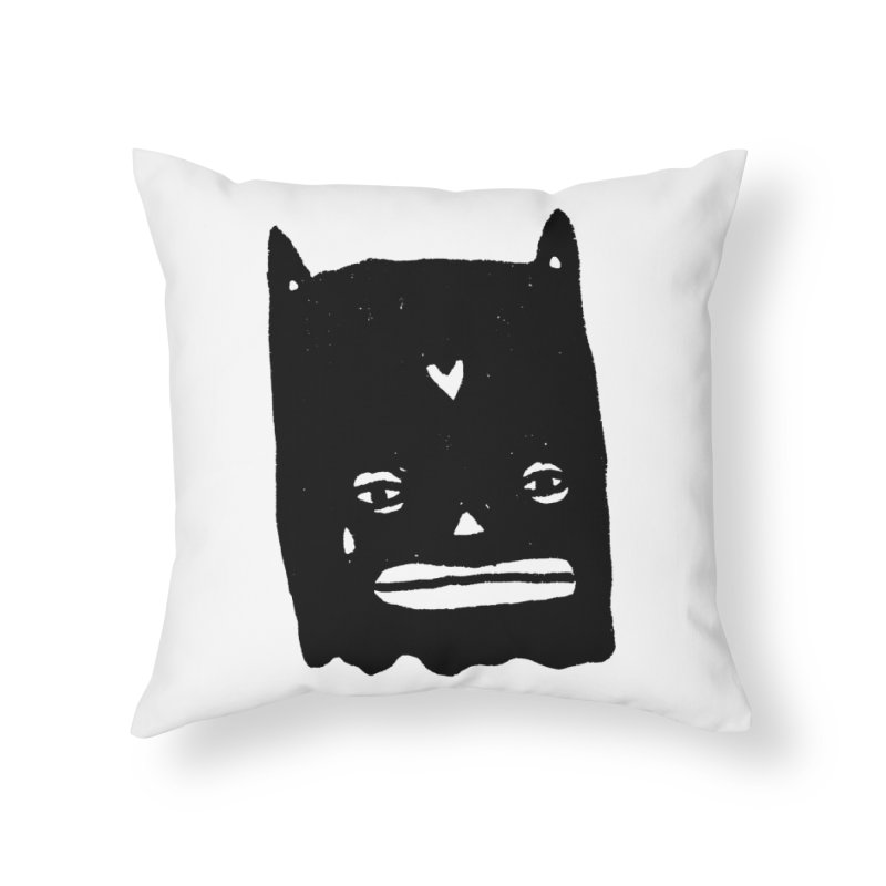 Go Easy Home Throw Pillow by Garbage Party's Trash Talk & Apparel Shop