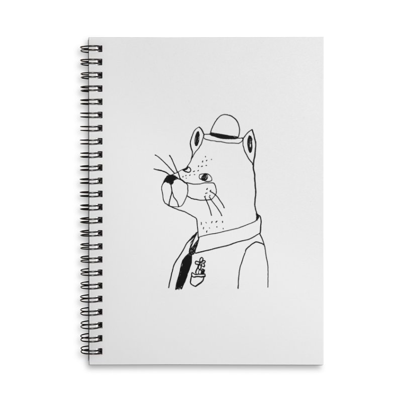 Businessman Accessories Lined Spiral Notebook by Garbage Party's Trash Talk & Apparel Shop