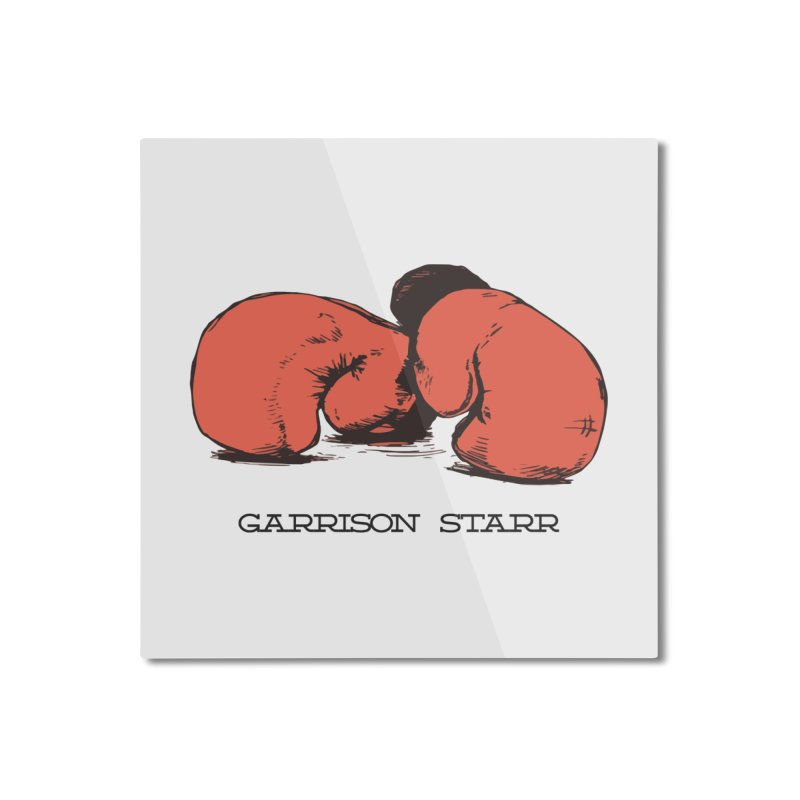 Amateur Gloves Home Mounted Aluminum Print by Garrison Starr's Artist Shop