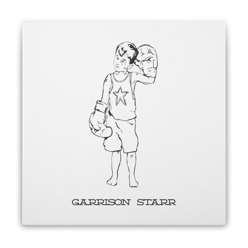 Amateur Boy - All Black Home Stretched Canvas by Garrison Starr's Artist Shop