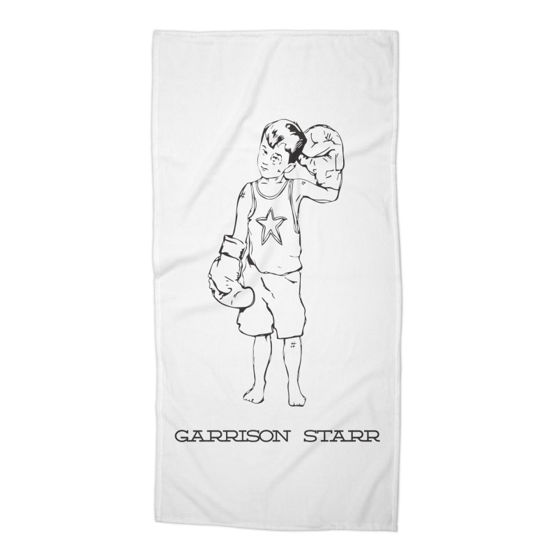Amateur Boy - All Black Accessories Beach Towel by Garrison Starr's Artist Shop