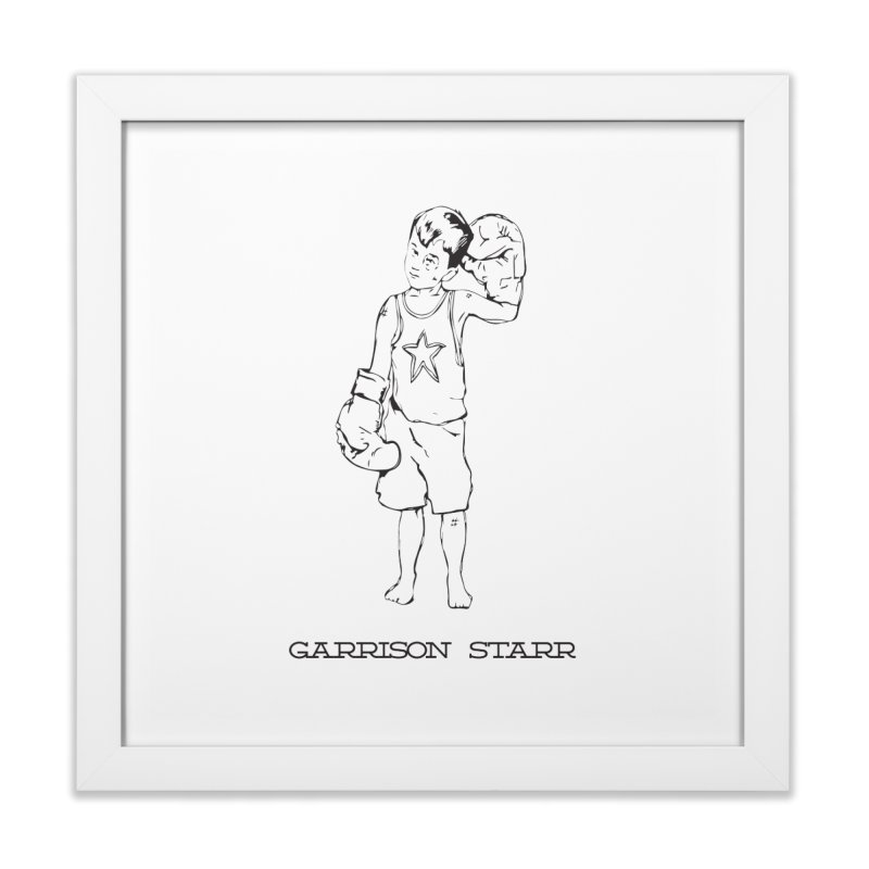 Amateur Boy - All Black Home Framed Fine Art Print by Garrison Starr's Artist Shop