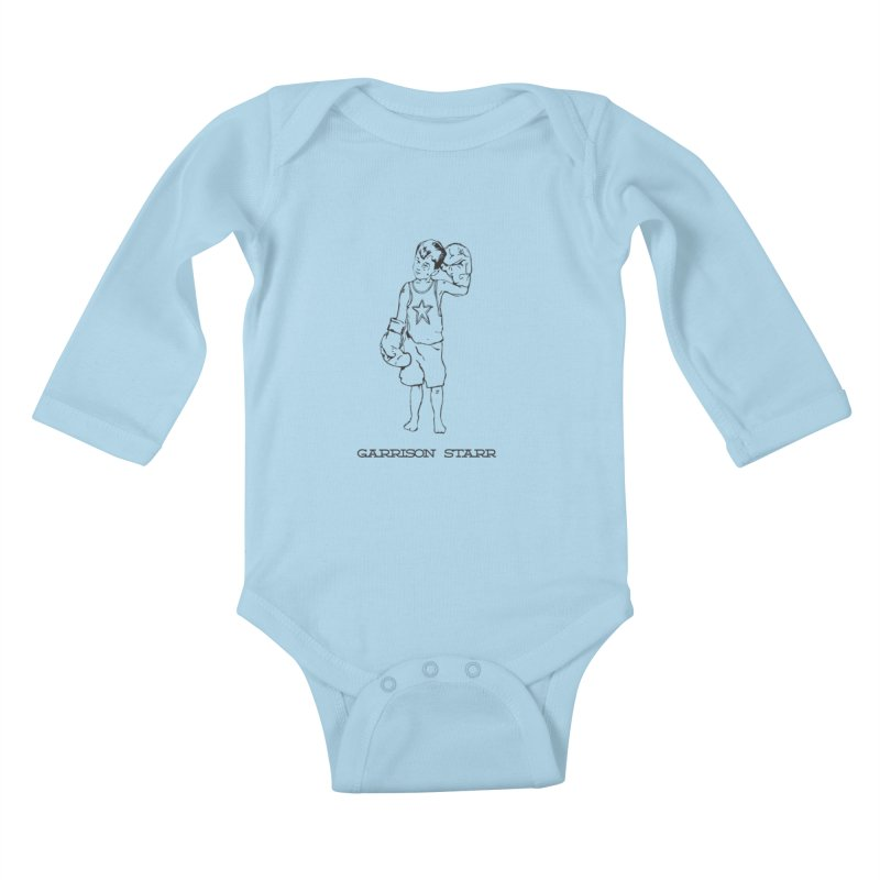 Amateur Boy - All Black Kids Baby Longsleeve Bodysuit by Garrison Starr's Artist Shop