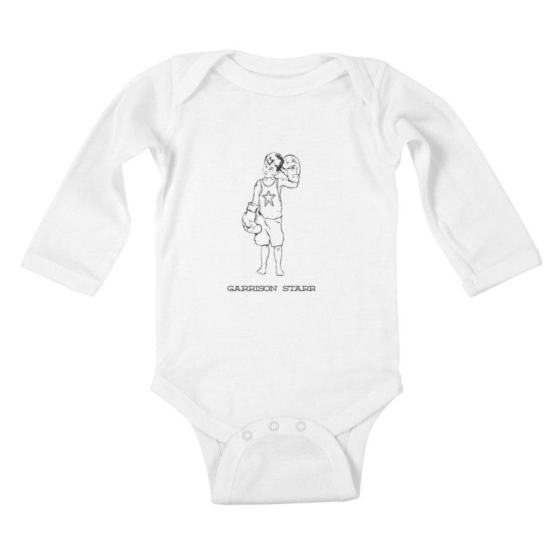 Amateur Boy - All Black Kids Baby Longsleeve Bodysuit by Garrison Starr's Artist Shop
