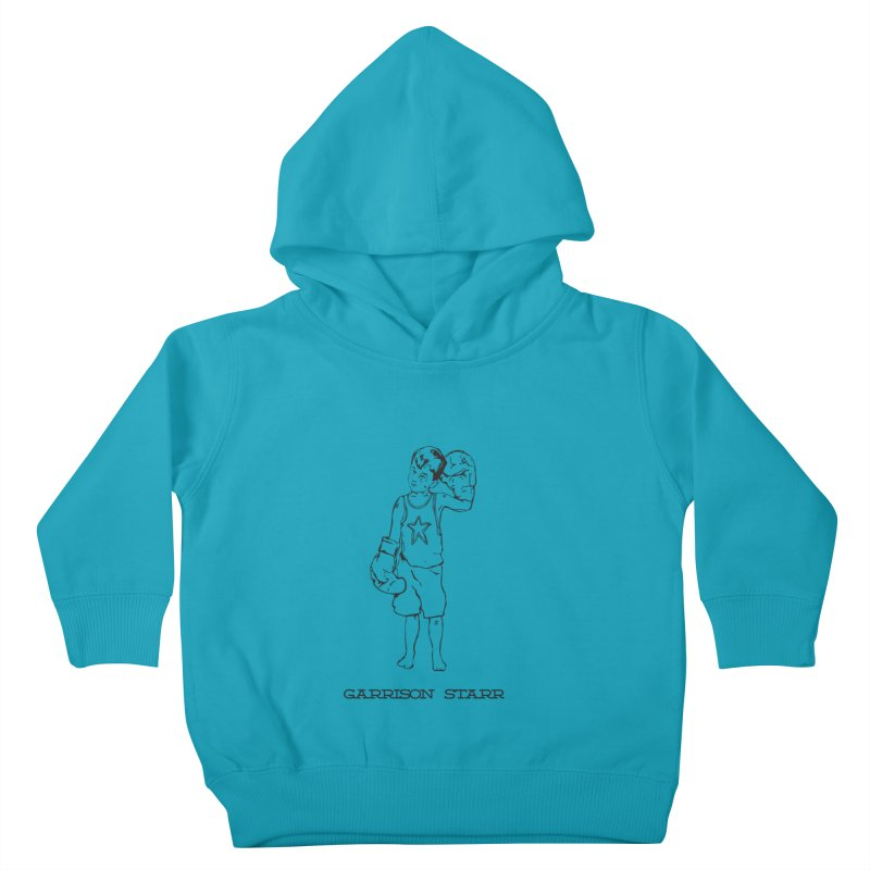 Amateur Boy - All Black Kids Toddler Pullover Hoody by Garrison Starr's Artist Shop