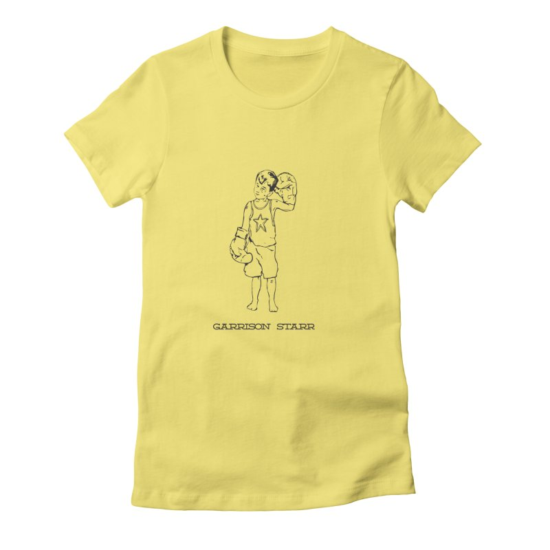 Amateur Boy - All Black Women's Fitted T-Shirt by Garrison Starr's Artist Shop